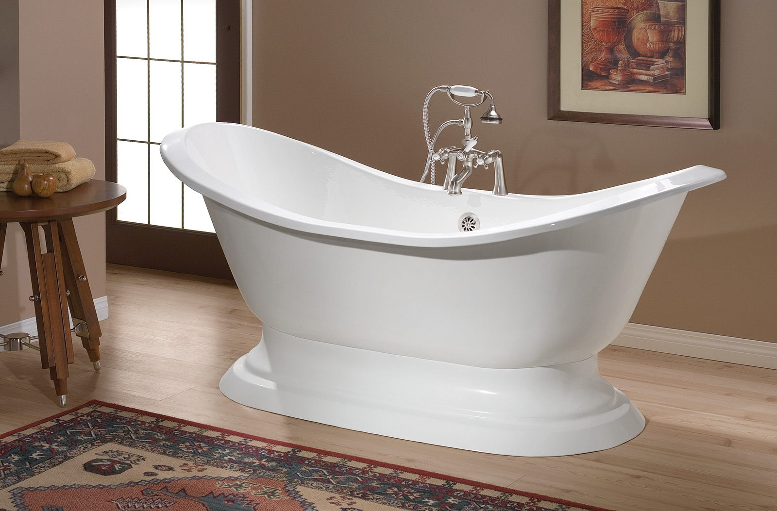 Regency cast iron bath with pedestal base cheviot products