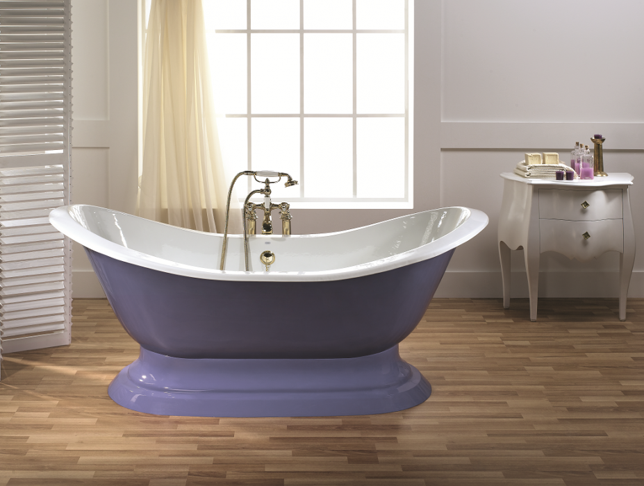 REGENCY Cast Iron Bath with Pedestal Base - Cheviot Products
