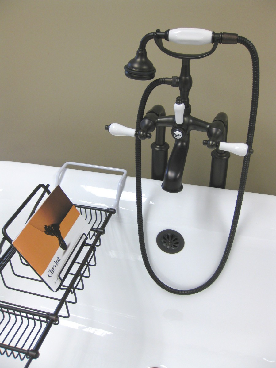Deluxe Solid Brass Bathtub Caddy Cheviot Products