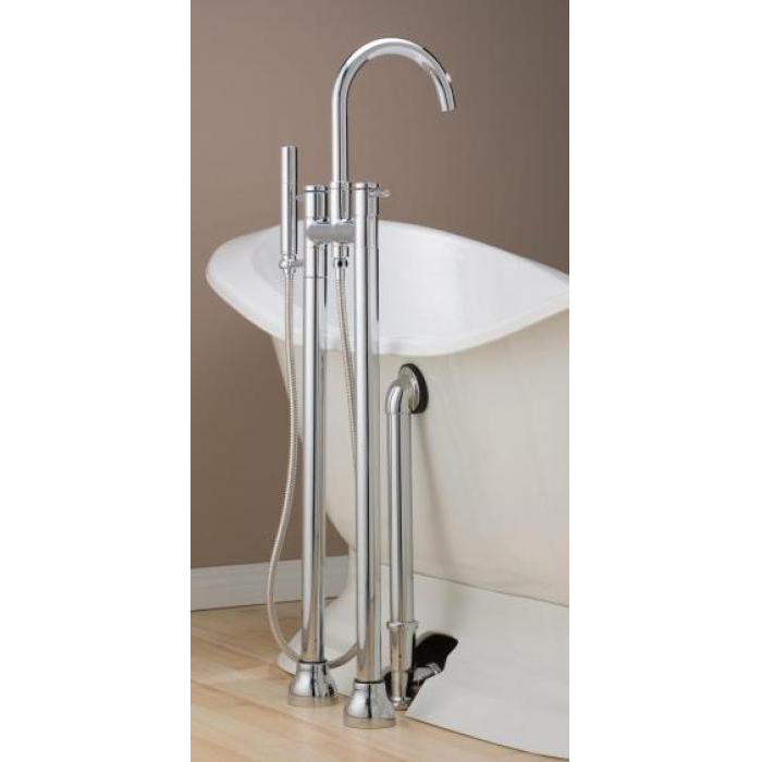 CONTEMPORARY Tub Faucet with Hand Shower & Free Standing Water ...