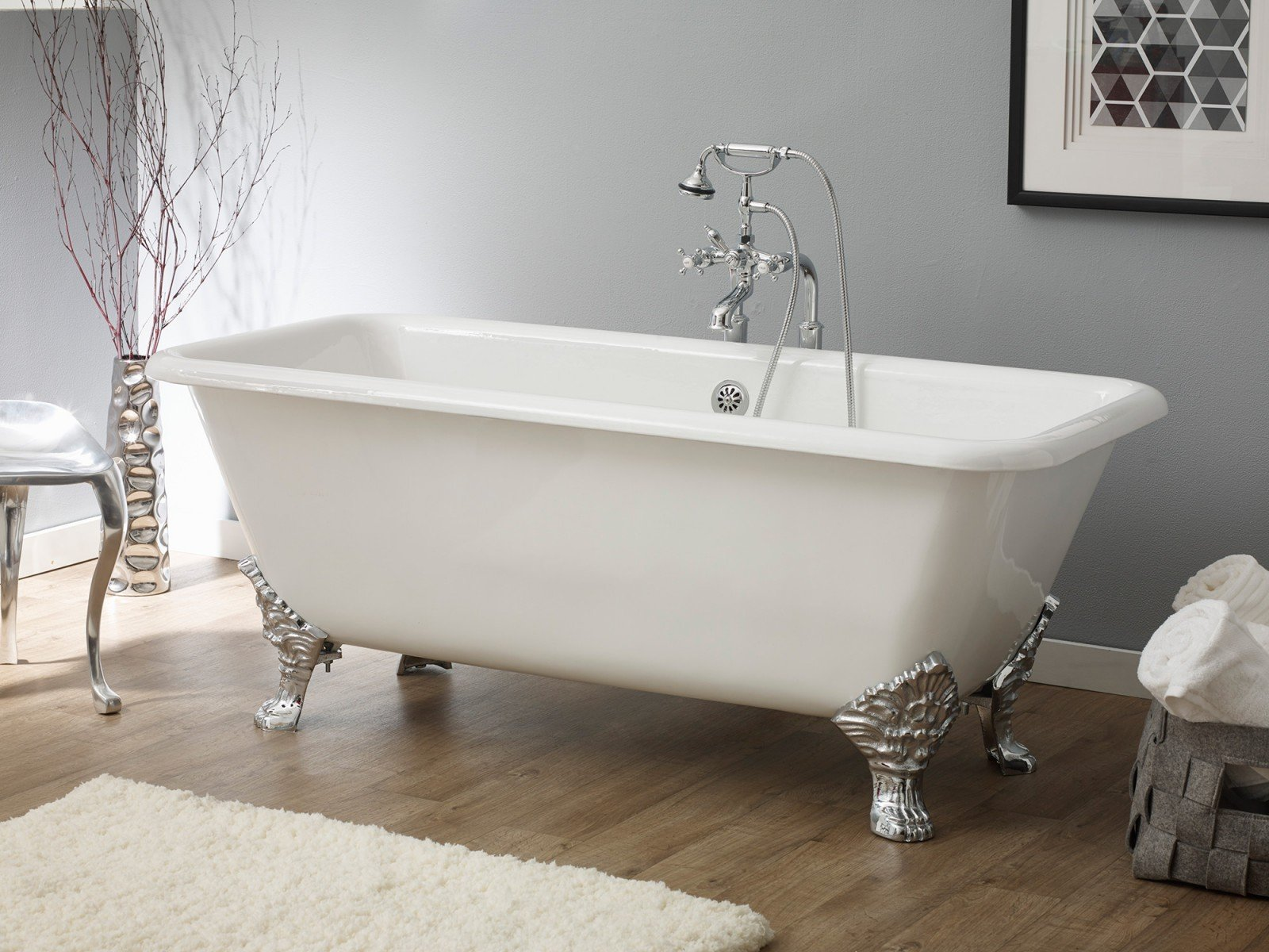 More Images SPENCER Cast Iron Bathtub