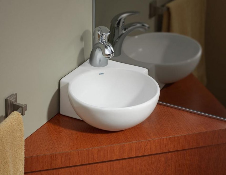 Corner Over Counter Wall Mount Sink Cheviot Products