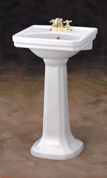 Small mayfair pedestal bathroom sink cheviot products for Very small sinks for small bathroom