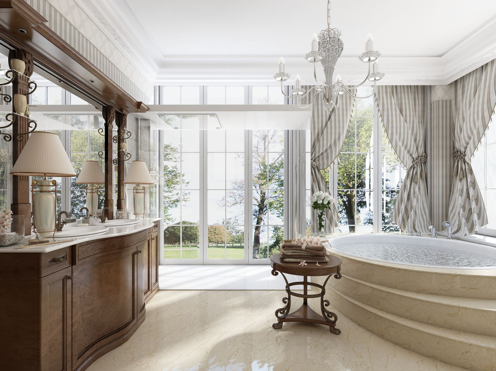 neoclassical bathrooms of the rich and famous